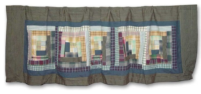 "Wild Goose Log Cabin Curtain Valance 54""x16""."