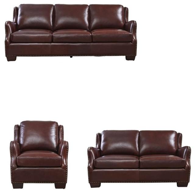 Miraculous Lazzaro Leather Vicar 3 Piece Living Room Set Cinnamon Alphanode Cool Chair Designs And Ideas Alphanodeonline
