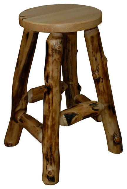 Rustic Aspen Log 30in Bar Stool Rustic Bar Stools And