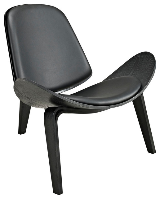 Arch lounge chair contemporary indoor chaise lounge for Black chaise lounge indoor