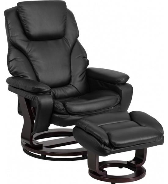 Flash Furniture BT-70222-BK-FLAIR-GG Black Bonded Leather Recliner transitional  sc 1 st  Houzz & Flash Furniture BT-70222-BK-FLAIR-GG Black Bonded Leather Recliner ... islam-shia.org