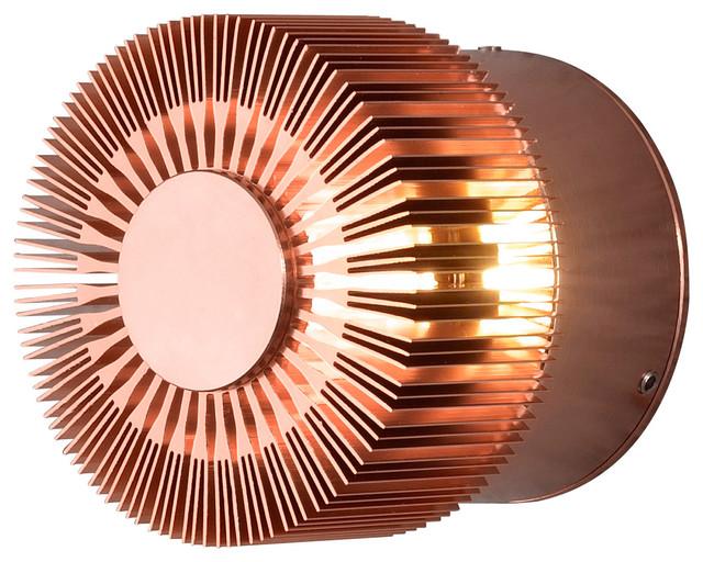 Monza Outdoor Wall Light, Copper