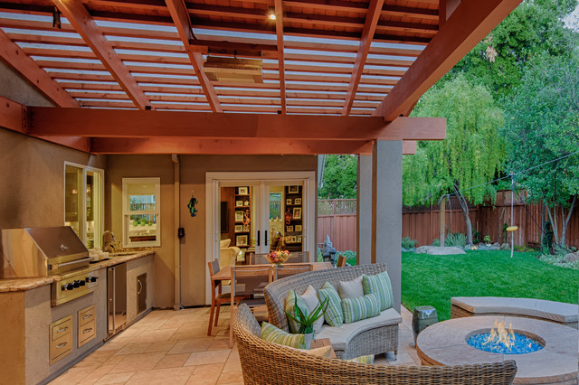 Marvelous Covered Patio Traditional