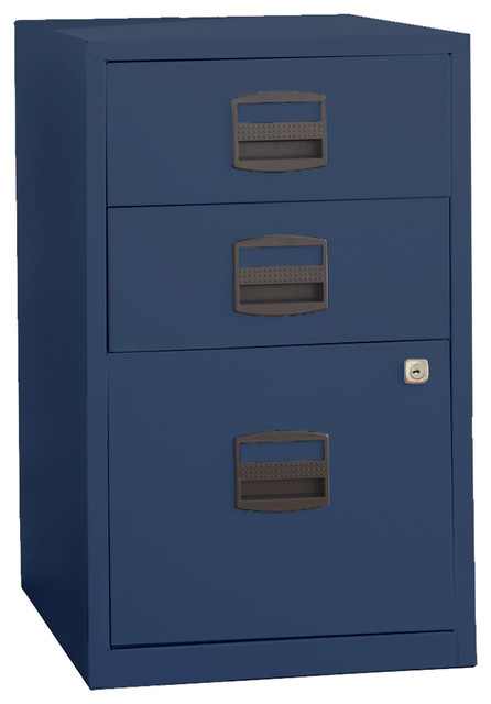 Bisley Three Drawer Steel Home or Office Filing Cabinet - Modern - Filing Cabinets - by Bindertek
