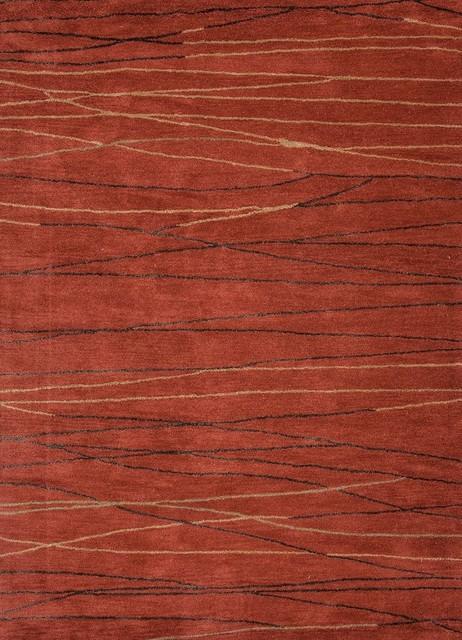 Baroque Area Rug, Rectangle, Classic Rust Classic Rust, 2u0027x3u0027