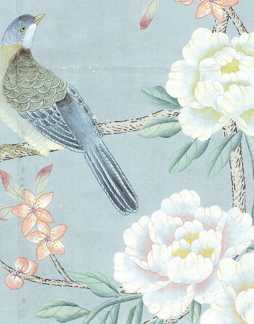 Chinoiserie wall mural maysong spring asian wallpaper for Chinese wallpaper mural