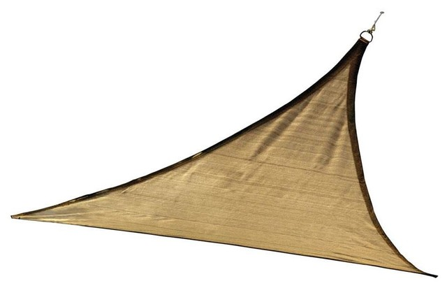 16&x27; Triangle Shade Sail, Sand 160 Gsm.