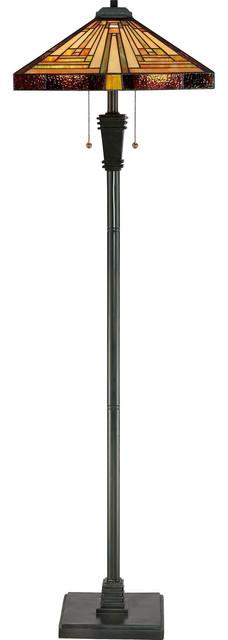 Quoizel Lighting Tf885f Two Light Floor Lamp Craftsman Floor Lamps By Elitefixtures