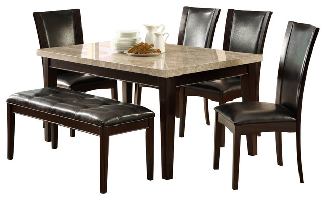 piece marble top dining room set in espresso dining sets houzz