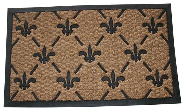 Geocrafts Fleur De Lis Flat Weave Doormat Reviews Houzz