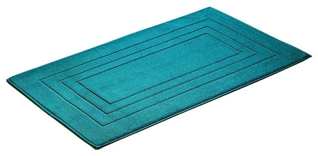 Feeling Rectangular Cotton Bath Mat, Crystal Blue