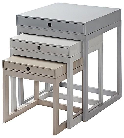 Gray Melrose Nesting Tables