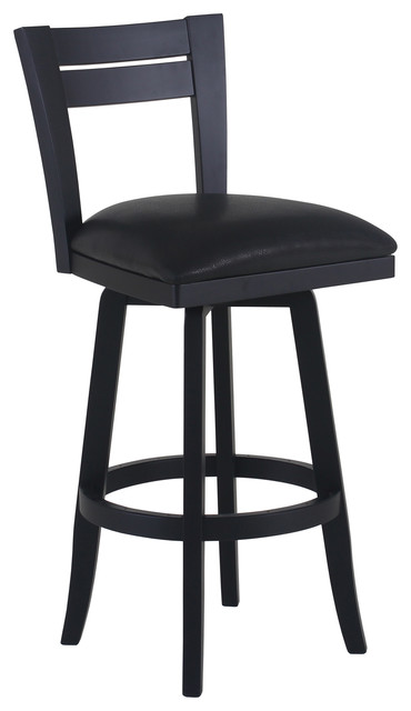 bristol swivel wood bar stool black with black wood counter height