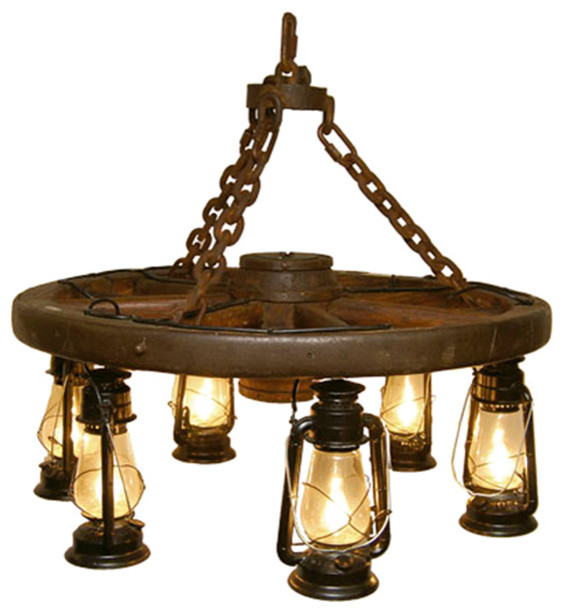"Wagon Wheel Rustic Chandelier Western Decor Pendant Light: 36"" Wagon Wheel Chandelier"