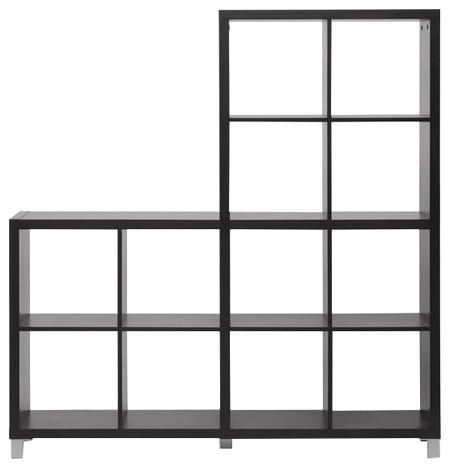 Sunna Dark Brown Modern Cube Shelving Unit