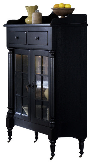 Liberty Treasures Display Cabinet, Black - Traditional - Accent Chests And Cabinets - by Bedroom ...
