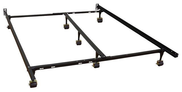 California King Size Metal Bed Frame With 7-Legs and Locking Rug ...