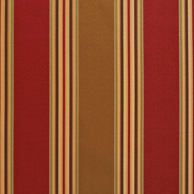 Sage Green And Red Shiny Large And Thin Stripe Upholstery Fabric By The Yard