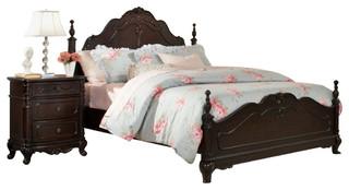 Homelegance Cinderella 2-Piece Poster Kids' Bedroom Set in Dark Cherry