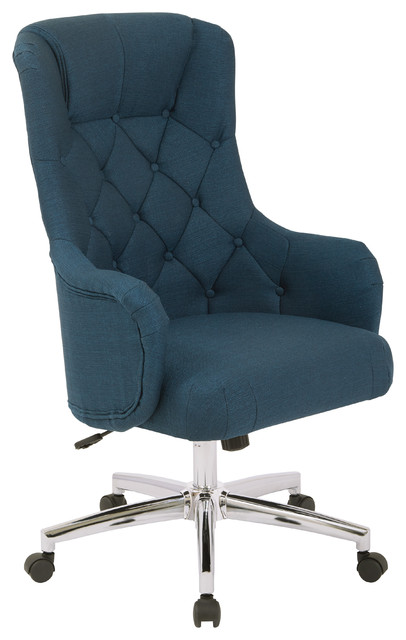Ariel Desk Chair, Azure.