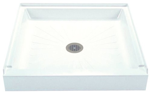 "Mustee 34""x34""x4.5"" Durabase Shower Base, White"