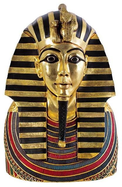 The Golden Shroud of Tutankhamen Egyptian Bust Statue