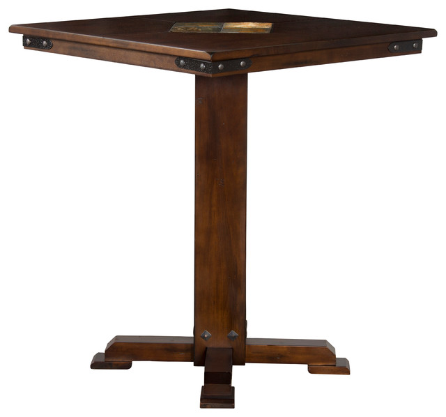 High Quality Santa Fe Square Slate Top Pub Table Transitional Indoor Pub And Bistro