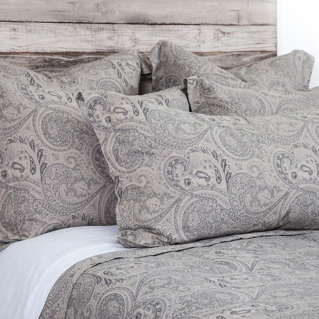 Sienna Paisley Fog King Duvet Duvet Covers And Duvet