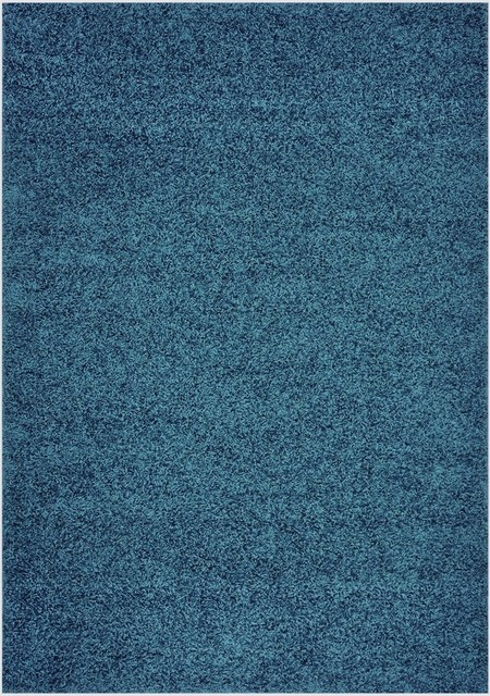 Solid Color Area Rug Petrol Blue