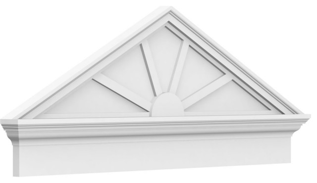 Peaked Cap 4 Spoke Architectural Grade Pvc Pediment Traditional Molding And Trim By Ekena Millwork