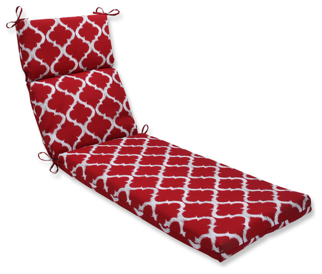 Kobette Red Chaise Lounge Cushion Mediterranean
