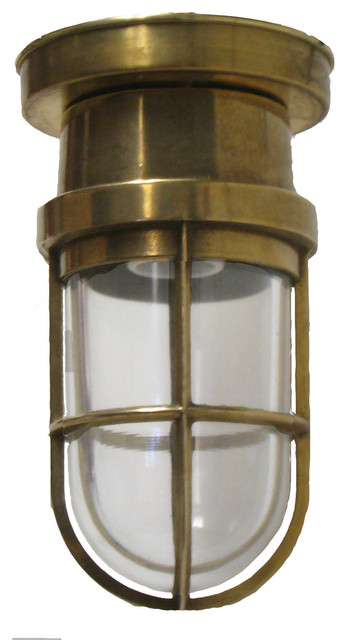 Flush Bulkhead Light Solid Br Interior Exterior Use By Shiplights