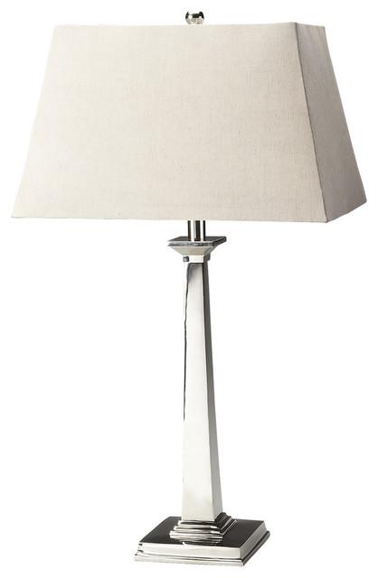 Butler  Nickel Finish Table Lamp.