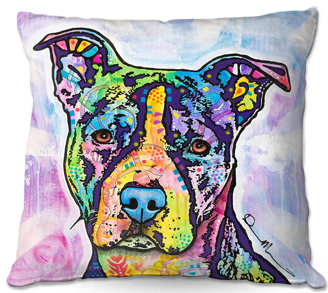 DiaNoche Throw Pillows By Dean Russo Ilustrious Pitbull Dog Stunning Decorative Pillows Dogs