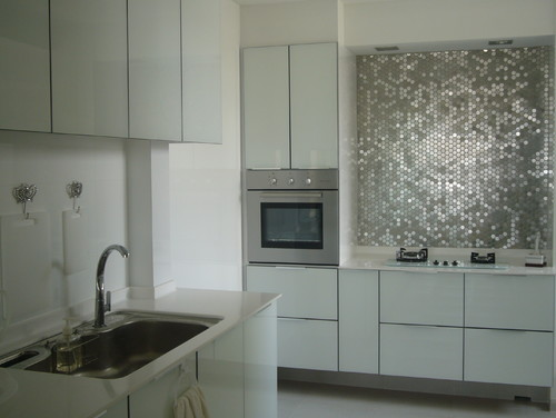 What Color Of Grout Did U Use On The Penny Stainless Steel Backsplash?
