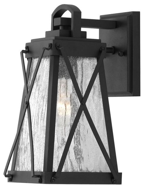 Luxury English Tudor Porch Light Saint Paul Series Midnight Black