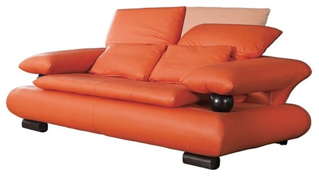 410 Living Room Loveseat, Orange.