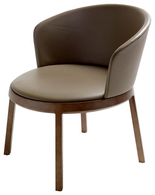 Exceptional Aro Circular Upholstered Beechwood Lounge Chair