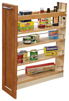 Pull-Out Wood Base Cabinet Organizer With Ball-Bearing ...