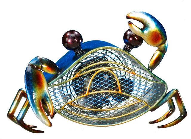 Figurine Fan, Blue Crab, Small.