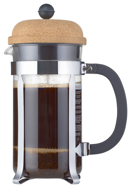 Bodum Chambord French Press Coffee Maker, 1.0 Liter, 34 Ounce, 8 Cup, Cork.