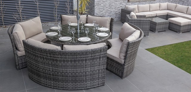 Reef wicker dominica dining set by moda for Outdoor furniture melbourne
