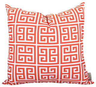 Outdoor Greek Key Throw Pillow - Contemporary - Outdoor Cushions And Pillows - by Majestic Home ...