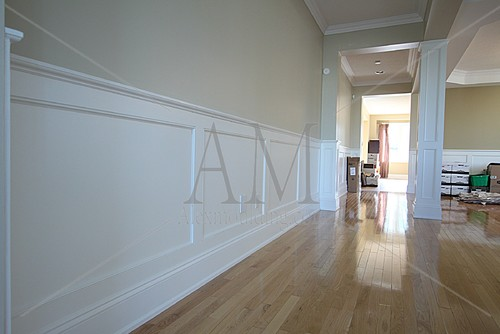 Which standard height should be used for tile or wood wainscoting for How high should wainscoting be in a bathroom