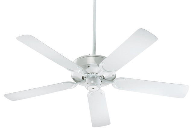 52 All-Weather Allure Patio Transitional Ceiling Fan, White, White.