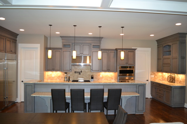 gray stained kitchen cabinets. Gray Stained Cabinets  With Black Glaze Richmond by Elite