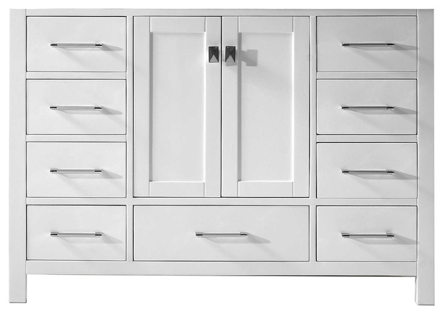 Caroline avenue single vanity base only transitional bathroom vanities and sink consoles - Bathroom vanity cabinet base only ...