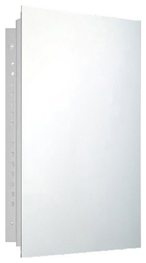 "Deluxe Series Medicine Cabinet, 14""x20"", Polished Edge, Recessed"