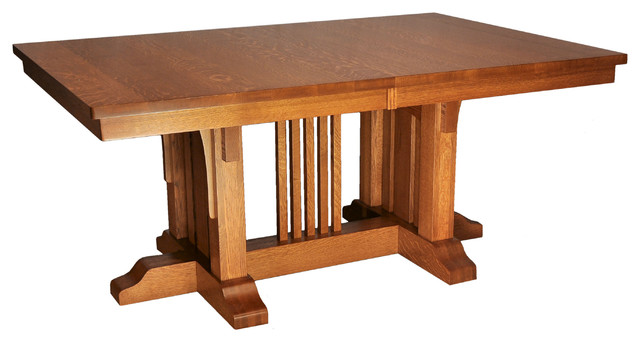 Mission luxury table craftsman dining tables by for Arts and crafts style table