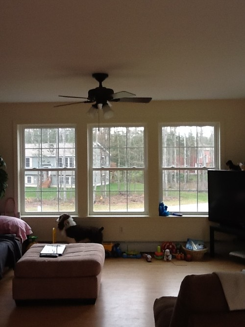 Three Windows What Type Of Curtains